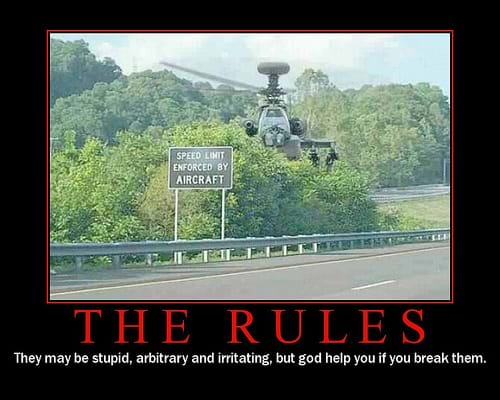 Speed Limits Enforced by Attack Helicopter
