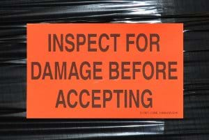 Inspect for Damage before Accepting