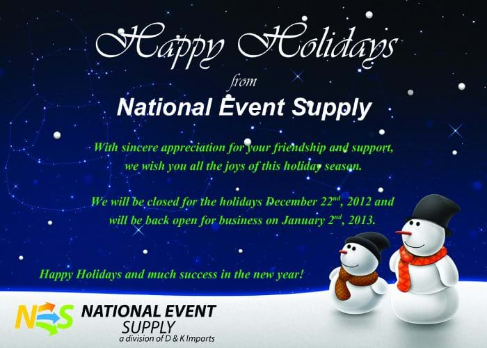 National Event Supply Holiday Card