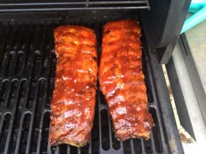 Ribs with 2 Hours to Go
