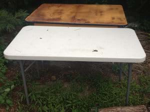 July 30-Plastic Folding Table and Wood Folding Table