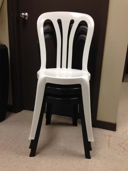 NES Reliable Bistro Chairs Stacked