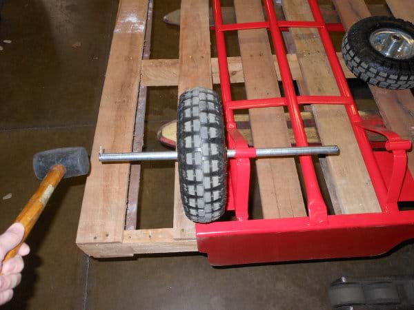 Hammering Axle In