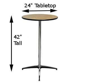 24-Inch Top with Tall Pole Measurements