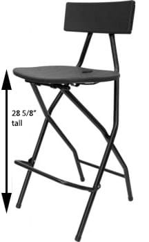 Bar Height Folding Chair with Measurements