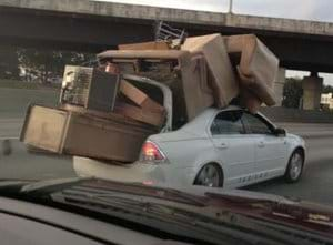 Overloaded Car Fail Transportation