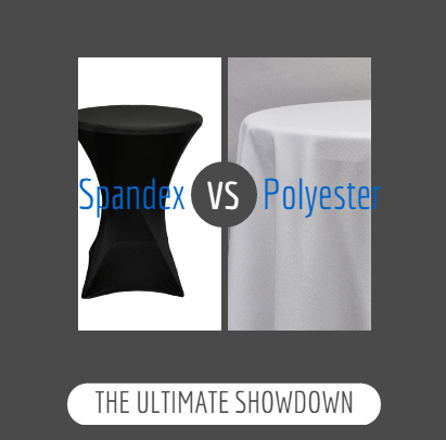 Spandex Table Covers vs Polyester Tablecloths