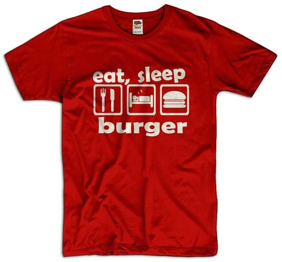 Eat Sleep Burger T-Shirt