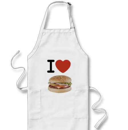 I Heart Burger Apron