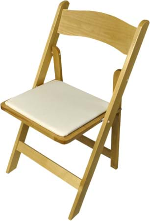 NES Natural Wood Folding Chair