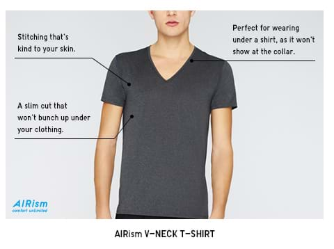 AIRism V-Neck T-Shirt