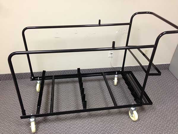 Cruiser Table Cart with Side Supports on Base