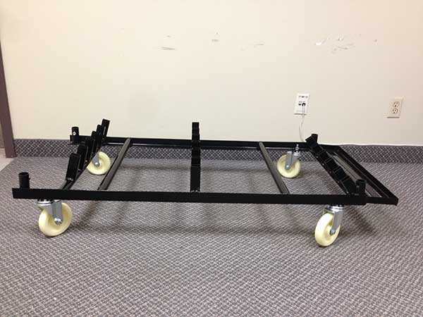 Cruiser Table Cart with Wheels Assembled