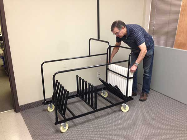 Pole Divider Set in Cruiser Table Cart