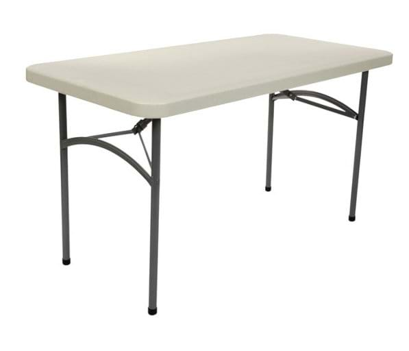 4ft x 30in Plastic Folding Table