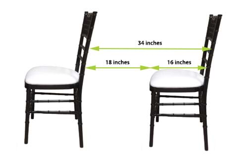 How Far Apart Should Chiavari Chairs Be?