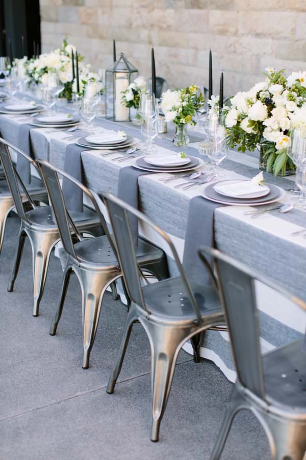 Industrial Metal Dining Chairs at Event
