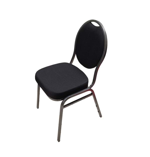 Banquet Chair with Black Upholstery