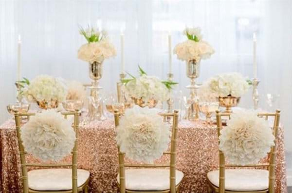 Rose Gold Tablecloths