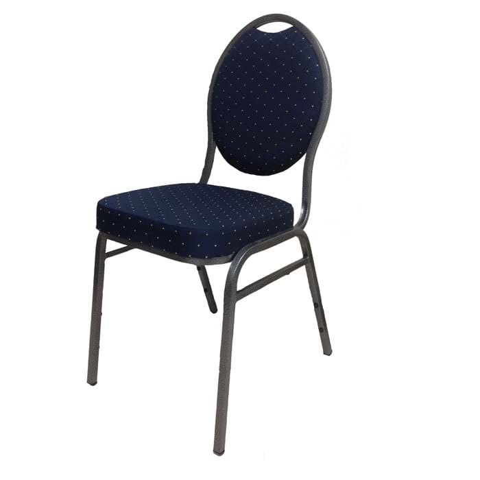 Banquet Chair with Navy Blue Upholstery