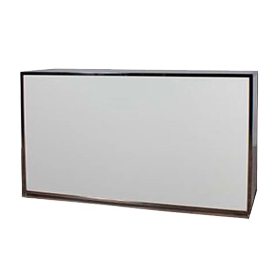 Chrome Bar with White Plexiglass