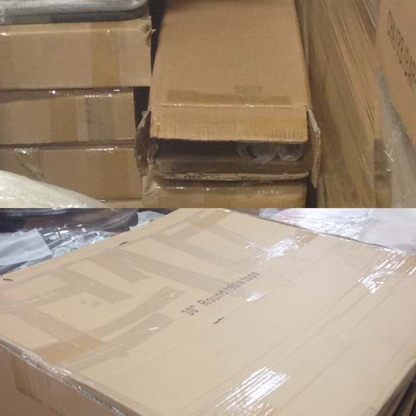 Cruiser Table Parts in Boxes