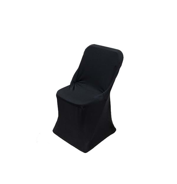 Spandex Folding Chair Cover on Plastic Folding Chair