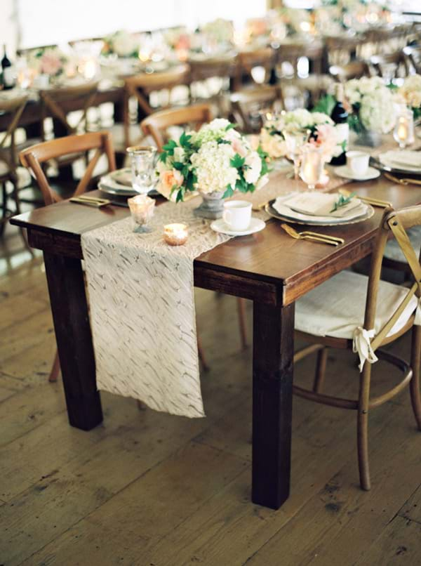 Cross Back Chairs with Cushions with Harvest Tables