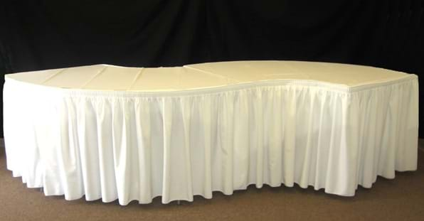How To Figure Out The Size Tablecloth And Skirting Needed For A Serpentine  Table: