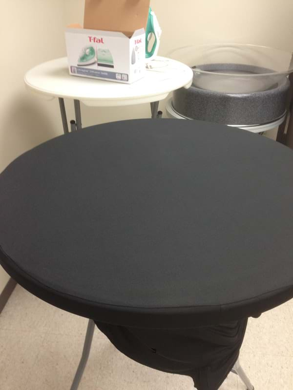 Spandex Tablecover Clean of Oil Stain