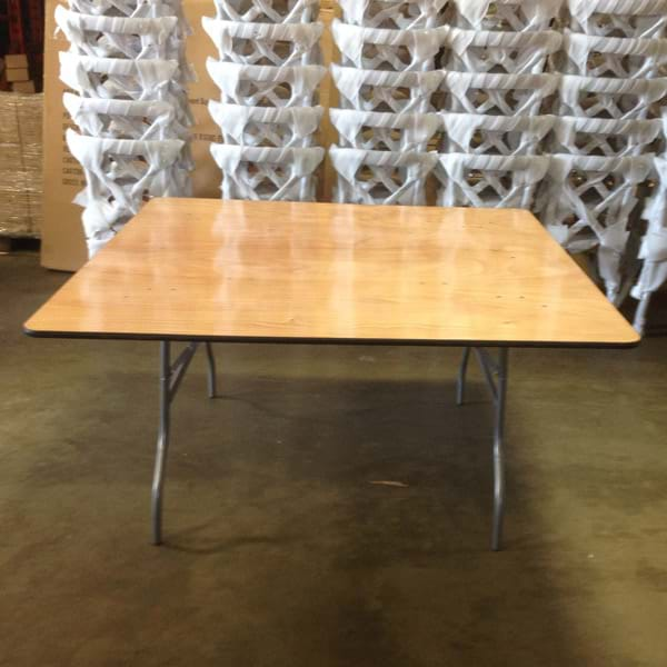 5ft Square Wood Folding Tables