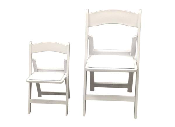 Childrens White Resin Folding Chair