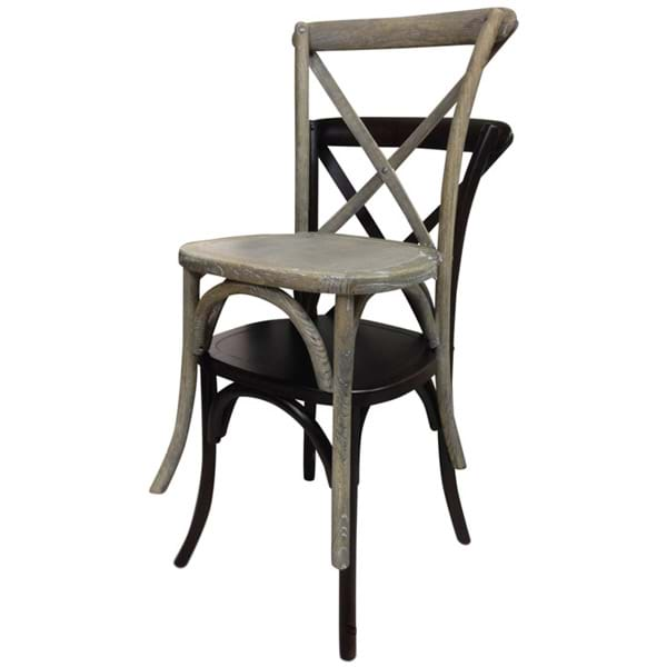 Cross Back Chairs Stack