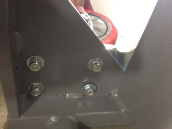 Round Table Carts 4 Bolts Attached