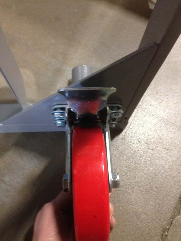 Round Table Cart Attaching Wheel