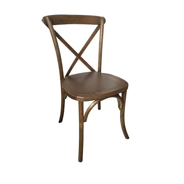 Vineland Brown Wood Cross Back Chairs
