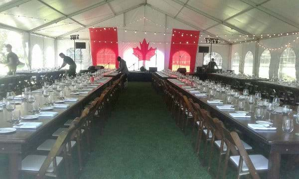 Harvest Tables at Elite Party Rentals