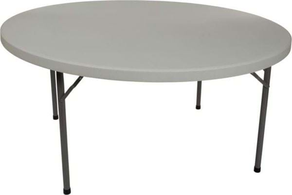 "Picture of NES Reliable 60"" Round Plastic Folding Table"