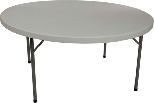 "Picture of NES Reliable 48"" Round Plastic Folding Table"