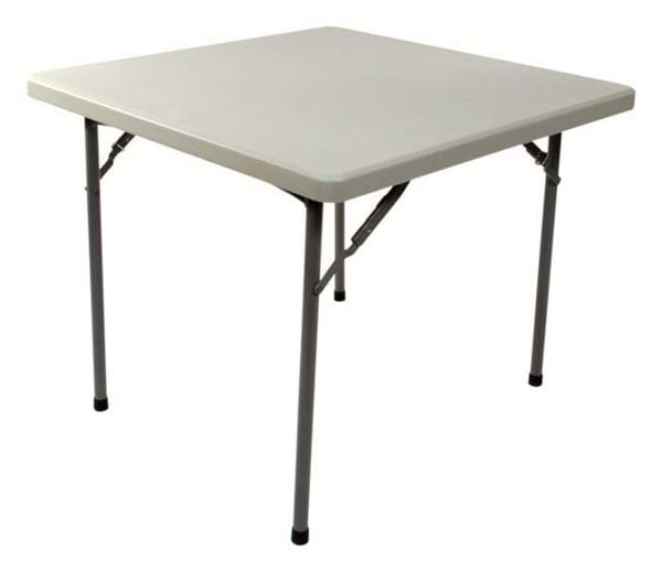 Picture Of Nes Reliable 3 Ft Square Plastic Folding Card Table