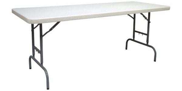 Nes Reliable 6 Ft Adjustable Plastic Folding Table National Event