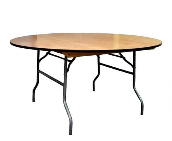 "Picture of NES 72"" Round Wood Folding Table"