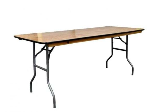 Picture of NES 8ft Wood Rectangle Folding Table