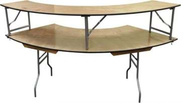 Picture of NES 5' Wood Serpentine Table