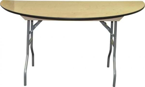 "Picture of NES 60"" Half Round Wood Folding Table"