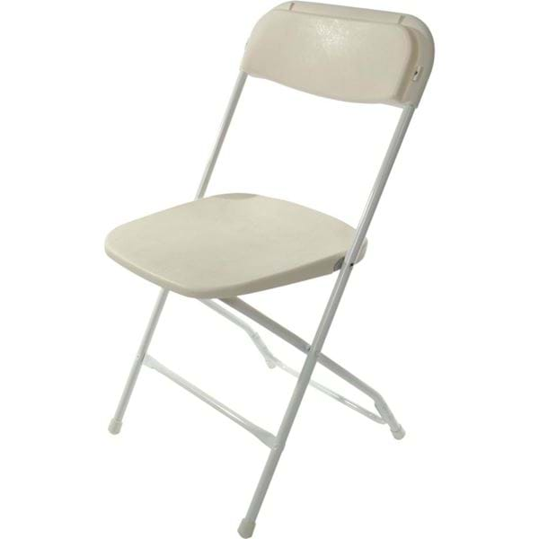 Picture of White Plastic Folding Chair