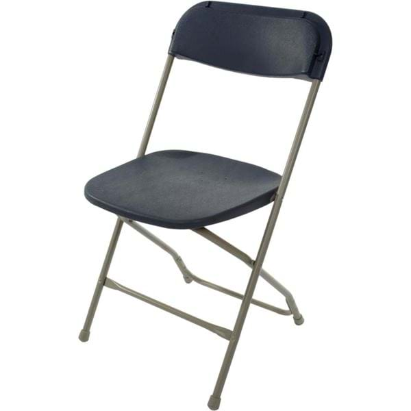 Picture of Slate Blue on Grey Plastic Folding Chair