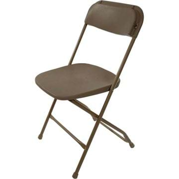 Picture of Tan Plastic Folding Chair