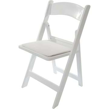 Picture of NES Reliable White Resin Folding Chairs
