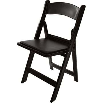 Picture of NES Reliable Black Resin Folding Chair
